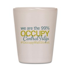 Occupy Central Islip Shot Glass