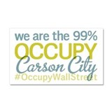 Occupy Carson City Car Magnet 20 x 12