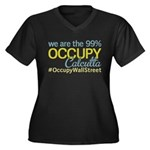 Occupy Calcutta Women's Plus Size V-Neck Dark T-Sh