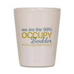 Occupy Boulder Shot Glass