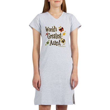 Aunt Butterflies Women's Nightshirt