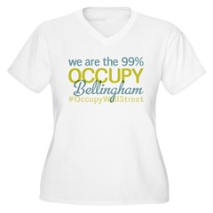 Occupy Bellingham Women's Plus Size V-Neck T-Shirt