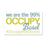 Occupy Basel Car Magnet 20 x 12