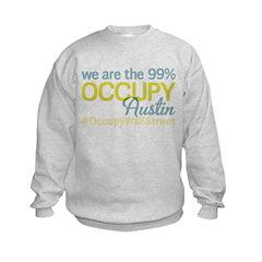Occupy Austin Kids Sweatshirt