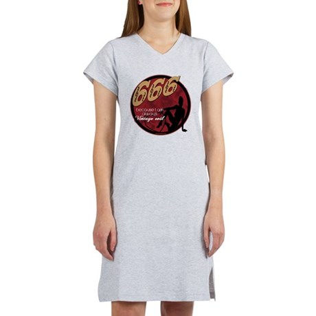 666 Devilish Sign Female Women's Nightshirt
