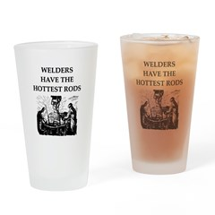 welders joke Drinking Glass