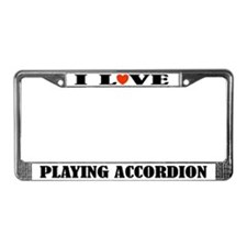 Accordion Music Gift License Frame