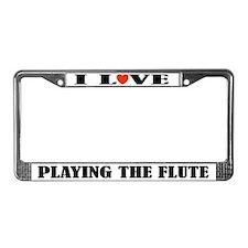 Flute Music Gift License Plate Frame
