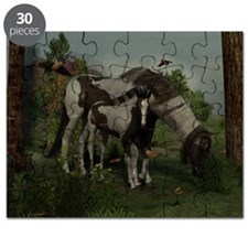 Painted Horse and Foal Puzzle