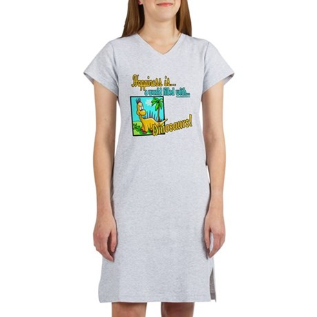 Happiness is Dinosaurs Women's Nightshirt