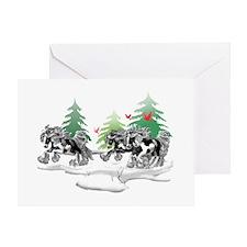 Gypsy Vanner White (C) Greeting Card