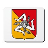 Sicily Coat of Arms Mousepad