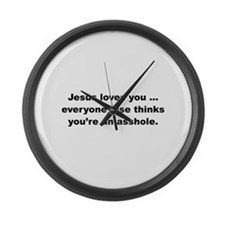 Jesus loves you ... Large Wall Clock