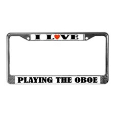 Oboe Gift Music License Plate Frame