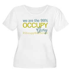 Occupy Gary Women's Plus Size Scoop Neck T-Shirt