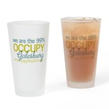 Occupy Galesburg Drinking Glass