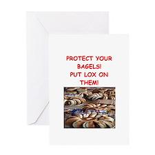 bagels and lox joke Greeting Card