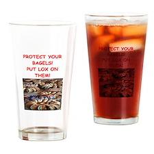 bagels and lox joke Drinking Glass