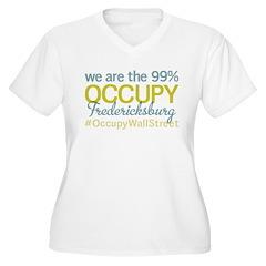 Occupy Fredericksburg Women's Plus Size V-Neck T-S