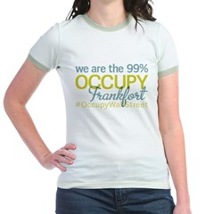 Occupy Frankfort Jr. Ringer T-Shirt