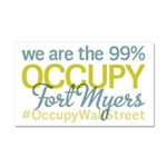 Occupy Fort Myers Car Magnet 20 x 12