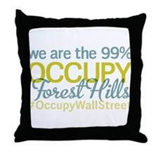 Occupy Forest Hills Throw Pillow