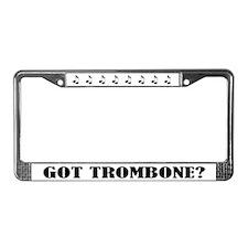 Got Trombone Music Gift License Plate Frame