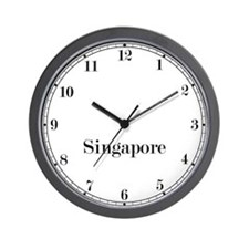 Singapore Classic Newsroom Wall Clock