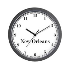 New Orleans Classic Newsroom Wall Clock