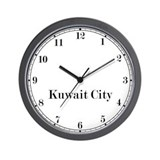Kuwait City Classic Newsroom Wall Clock