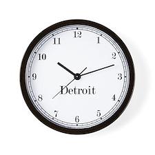 Detroit Classic Newsroom Wall Clock