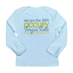 Occupy Fergus Falls Long Sleeve Infant T-Shirt