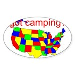 got camping? Sticker (Oval 50 pk)