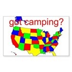got camping? Sticker (Rectangle)