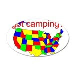 got camping? 38.5 x 24.5 Oval Wall Peel