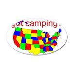 got camping? 38.5 x 24.5 Oval Wall Peel
