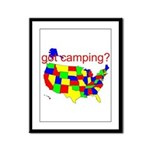 got camping? Framed Panel Print