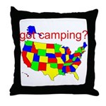 got camping? Throw Pillow