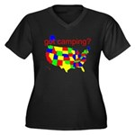 got camping? Women's Plus Size V-Neck Dark T-Shirt