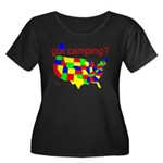got camping? Women's Plus Size Scoop Neck Dark T-S