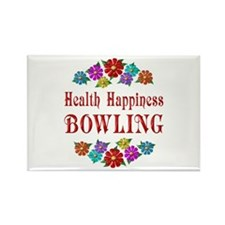 Bowling Happiness Rectangle Magnet (10 pack)