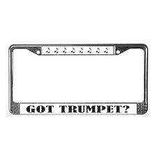 Trumpet Gift Music License Frame