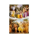 Krishna Lila & Gaura Lila Rectangle Magnet