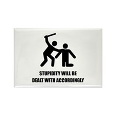 Stupidity Rectangle Magnet (100 pack)