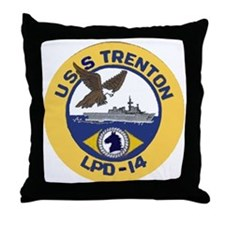 USS Trenton LPD 14 Throw Pillow