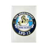 USS Shreveport LPD 12 Rectangle Magnet