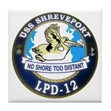 USS Shreveport LPD 12 Tile Coaster