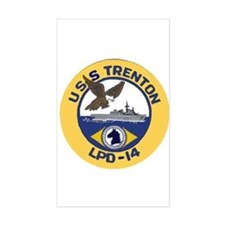 USS Trenton LPD 14 Rectangle Decal
