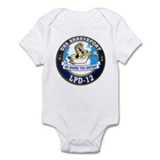 USS Shreveport LPD 12 Infant Bodysuit