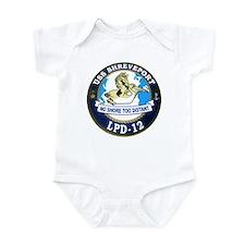 USS Shreveport LPD 12 Infant Bodysuit